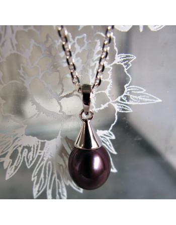 Plum droplet pendant