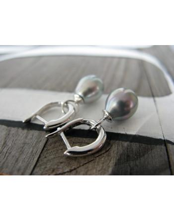 Grey Tahiti droplet (hoop)