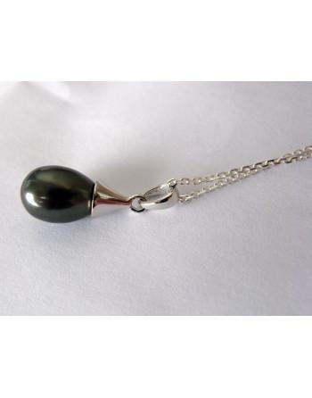 Black droplet pendant