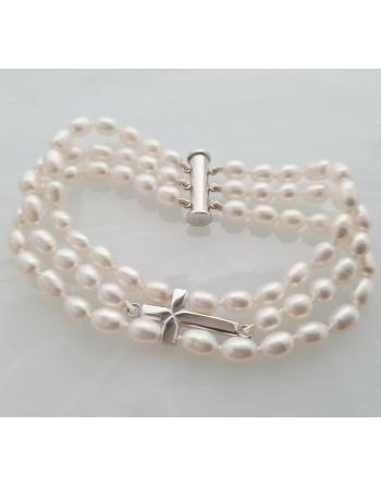 Cross bracelet - white