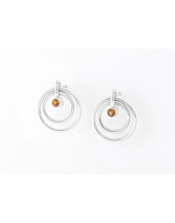 Orbit Earrings (citrine)