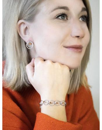 Orbit Bracelet and Earrings