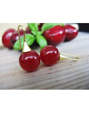 Cherry Earrings (gold-plated)
