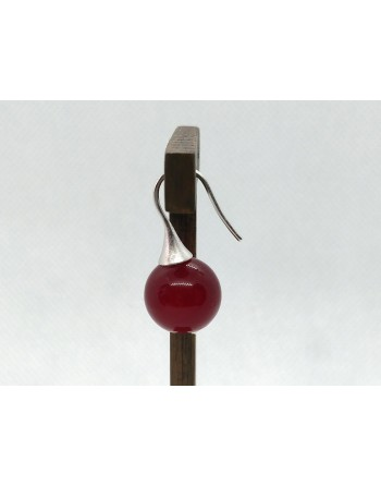 Kirsikka korvakoru (hopea)
