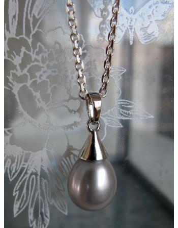 Grey droplet pendant