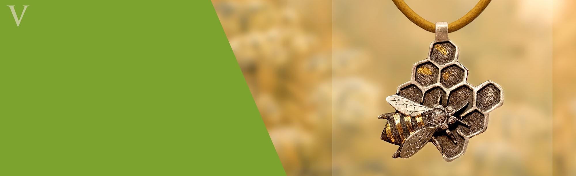mehiläinen-riipus